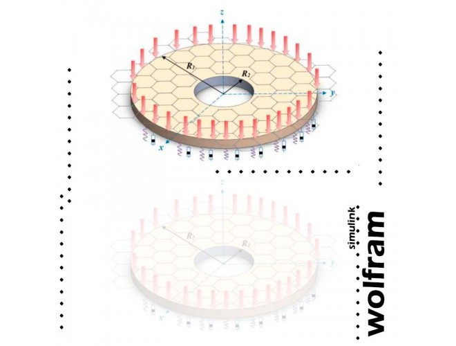 پروژه تحلیل ارتعاشی ورقهای گرافن ویسکوالاستیک حلقوی با Wolfram Mathematica + فیلم