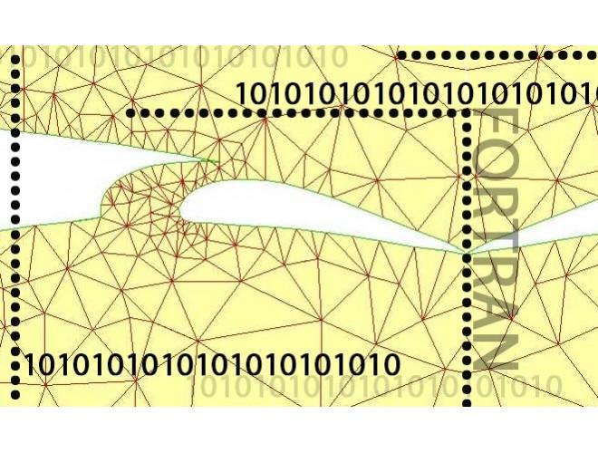 پروژه کد نویسی جهت درشت سازی شبکه های دو بعدی بی سازمان و غیرایزوتروپیک به کمک متریک فیلد با استفاده از نرم افزار فرترن و به همراه فیلم آموزشی نرم افزار فرترن